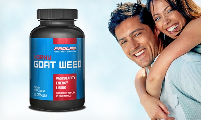 Prolab Horny Goat Weed Testosterone Booster: $12.99 for a 60-Capsule Bottle of Prolab Horny Goat Weed Testosterone Booster ($16.99 List Price)