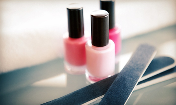 Tip-Toes Nail Salon - Montrose-Ghent: One Shellac Manicure or One or Two Spa Mani-Pedis at Tip-Toes Nail Salon (Up to 61% Off)