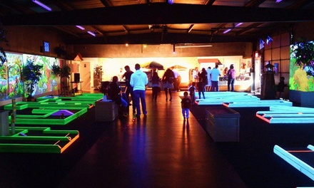 Glow-in-the-Dark Mini Golf for Two or Four at Tropical Glow (50% Off)