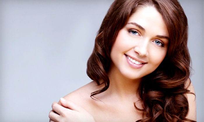 Phia Salon - Columbus: Haircut with Blowdry or Partial Highlights at Phia Salon (Up to 58% Off)