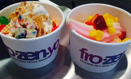 $14 for Five Groupons, Each Good for $5 Worth of Frozen Yogurt at FroZenYo ($25 Total Value)