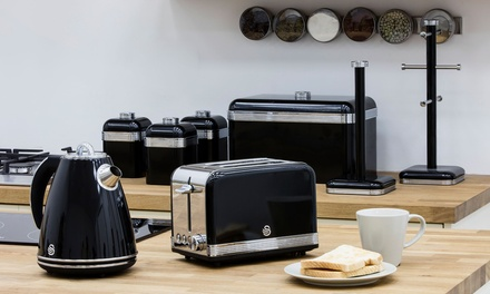 Swan Retro EightPiece Kitchen Set with Kettlein Four Colours With Free Delivery