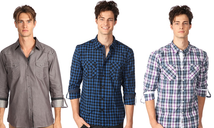 One90One Men's Button-Down Shirts: One90One Men's Button-Down Shirts. Multiple Styles Available. Free Shipping and Returns.