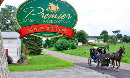 1 or 2 Nights for Two with Breakfast and Optional Romance Package at Premier Carriage House Cottages in Millersburg, OH from Premier Carriage House Cottages -