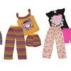 Sweet and Sass Girls' 3-Piece Pajama Set