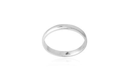 Classic Wedding Ring in Sterling Silver