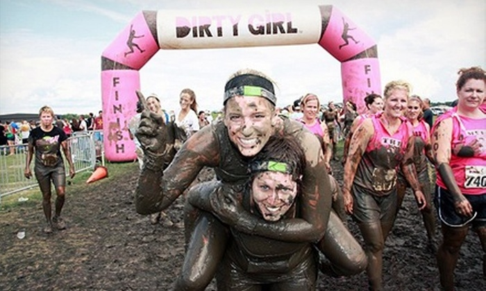 Dirty Girl Mud Run - Glen Afton and The Island: 5K Entry for One, Two, or Four Women to Dirty Girl Mud Run on Saturday, August 24 (Up to 70% Off)