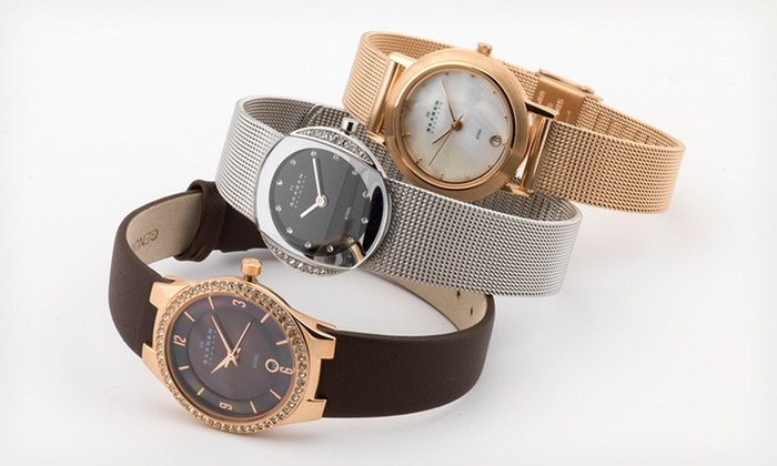 Men's and Women's Skagen Watches: Men's and Women's Skagen Watches (Up to 63% Off). 21 Options Available. Free Shipping and Free Returns.