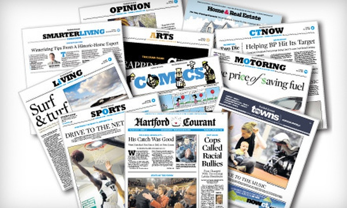 "Hartford Courant - Hartford: $26 for a One-Year Thursday–Sunday Subscription to the ""Hartford Courant"" ($252.20 Value)"