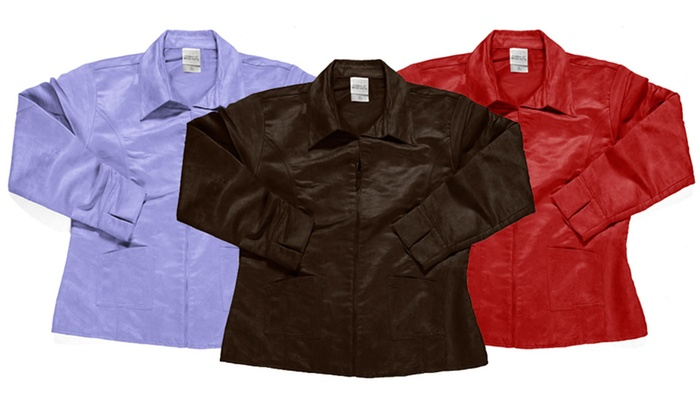 Zorrel Women's Microsuede Zip Jackets: Zorrel Women's Microsuede Zip Jackets. Multiple Colors Available.