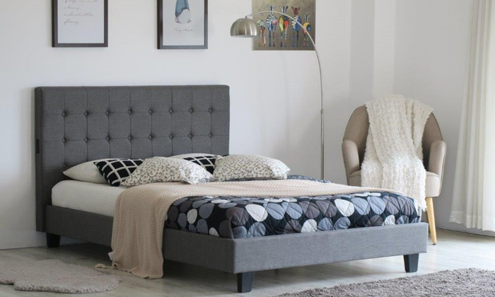 Amelia Bed Frame with USB with Optional Tobe Mattress from £155