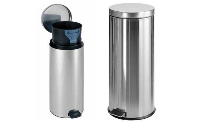 Brabantia Wasbox 50 Liter Matt Steel.Brabantia Pedaalemmer Of Wasbox Groupon Goods