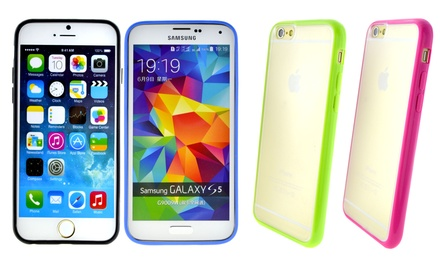 Bumper Case for iPhone 4/4S, 5/5S/5C, 6, or Samsung Galaxy S5