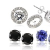 $16.99 for a 3-Stud-Earring Set with CZ Halo