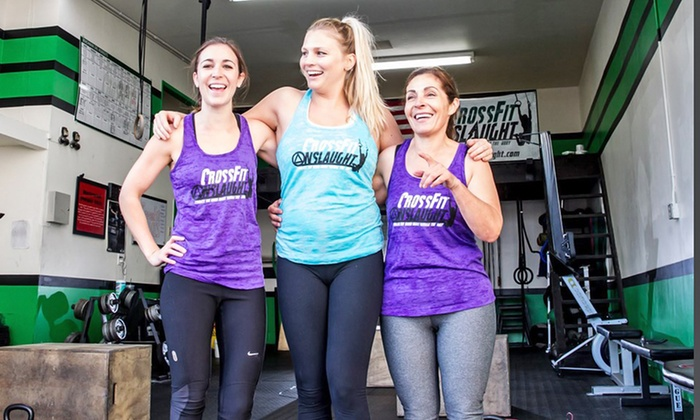 CrossFit Onslaught - Costa Mesa: Two Weeks of Onboarding and 10 Classes or One Month of Unlimited Classes at CrossFit Onslaught (Up to 77% Off)