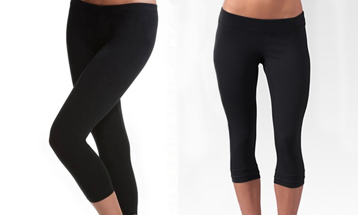 2-Pack of Seamless Capri Yoga Leggings: $16.99 for a 2-Pack of Seamless Capri Yoga Leggings in Black ($60 List Price). Free Shipping and Returns.