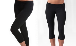 $16.99 For A 2-pack Of Seamless Capri Yoga Leggings In Black ($60 List Price). Free Shipping And Returns.