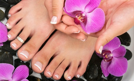 One or Two Mani-Pedis with Paraffin or One Wrap Set, Mani, and Pedi at Wrap-It Nails & Hair Salon (Up to 63% Off)
