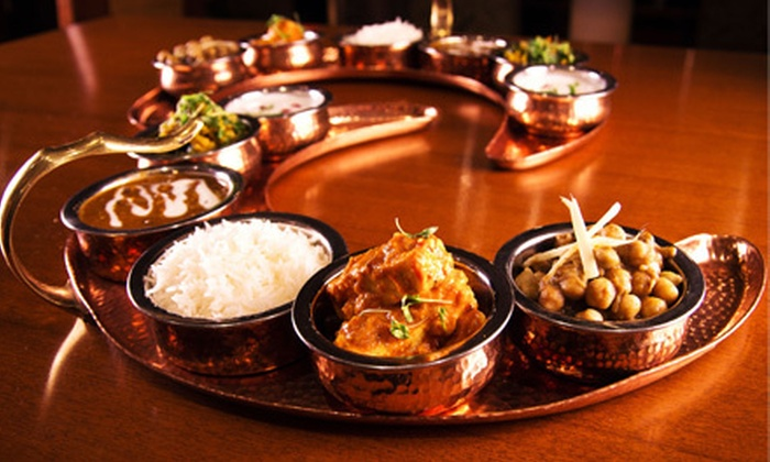 Junoon - Midtown South Central: $52 for an Indian Thali Platter Lunch with Wine or Lassi for Two at Junoon, a Michelin Star Restaurant (Up to $86 Value)