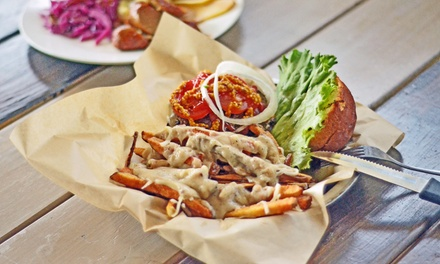 Wurst Dinner and Drinks for Two or Four, or Wurst Lunch for Two at Haus (Up to 46% Off)