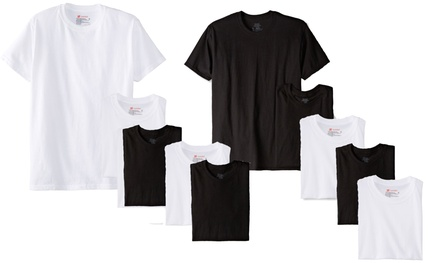 10-Pack of Hanes Classics Men's Crew-Neck Undershirts