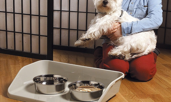Marchioro Kiosk Pet Feeding Trays: Marchioro Kiosk Medium or Large Pet Feeding Tray. Multiple Sizes from $9.99-$19.99.
