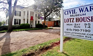 Lotz House Museum: Visit for Two Adults or Family of Four to Lotz House Museum (57% Off)