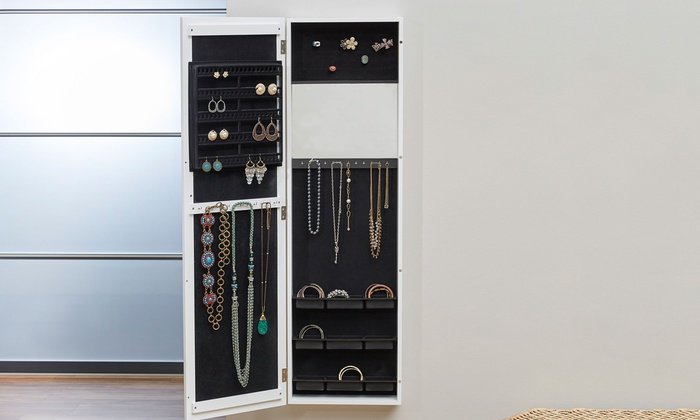 Up To 69 Off on Mountable Jewelry Armoires Groupon Goods