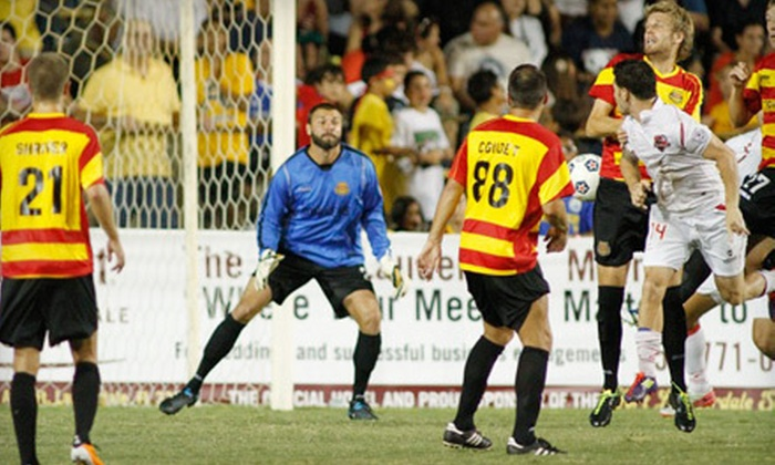Fort Lauderdale Strikers - Fort Lauderdale: Fort Lauderdale Strikers Soccer Match for Two on July 14 or 27 (Up to Half Off). Two Seating Options Available.
