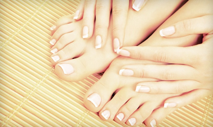 A Day of Delight - Multiple Locations: Deluxe, Signature, or House Mani-Pedi at A Day Of Delight (Up to 51% Off)
