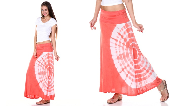 Tie Dye High Low Maxi Dress Groupon Goods
