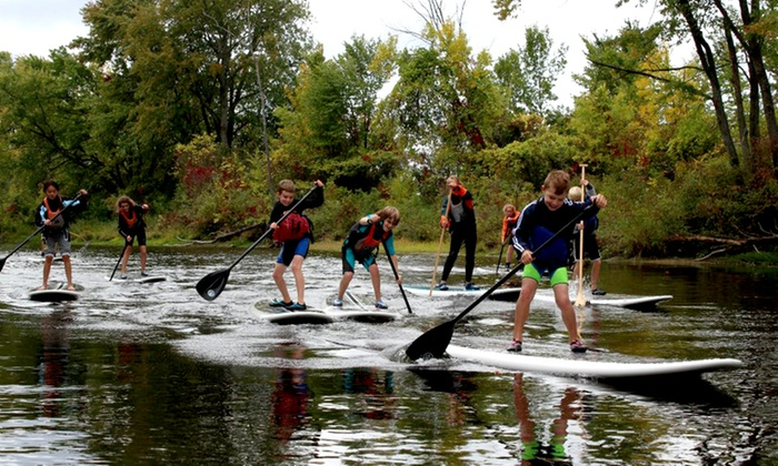 Liquid Skills - Beachburg: 90-Minute Stand-Up Paddleboarding Rental, Tour, Fitness Class, or Yoga Class from Liquid Skills (Up to 45% Off)