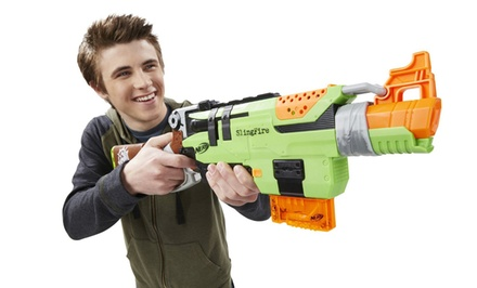 Nerf Zombie Strike SlingFire Blaster Bundle with Darts Refill Pack