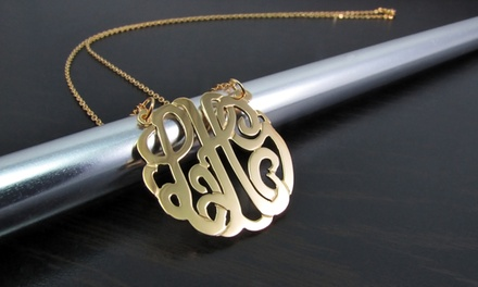 Necklace with Mini or Larger Monogram Pendant from NameJewelrySpot (Up to 75% Off)