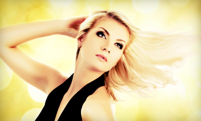 Simply Hair - Hanover: Haircut, Wash, and Blowout with Option of Single-Process Demi-Color at Simply Hair (Up to 70% Off)