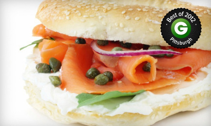 The Pittsburgh Bagel Factory - Multiple Locations: $9 for $18 Worth of Bagels, Schmears, and Sandwiches at The Pittsburgh Bagel Factory