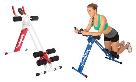 SportPlus inklapbare buikspiertrainer ABPlank SPALB011 met LCDscherm in de kleur rood of blauw voor € 69,99
