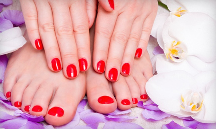 Beauty Innovations  - Palmer: $35 for a Shellac Manicure and Spa Pedicure at Beauty Innovations ($73 Value)