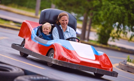 $17 for Go-Karts, Batting Cages, and Other Activities Plus Pizza for One (Up to $32.47 Value)