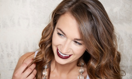 Haircut and Condition with Optional Root Touch-Up or Partial or Full Highlights at Salon56 (Up to 50% Off)