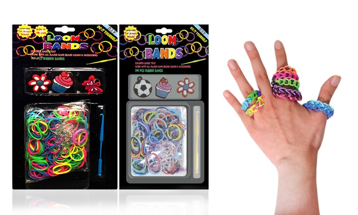 4-Pack of Loom Band Accessory Kits: 4-Pack of Loom-Band Accessory Kits with Bands, Charms, and Loom Tool. Free Returns.