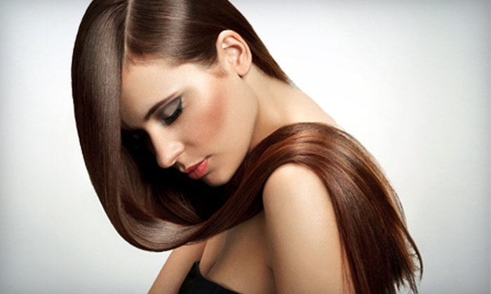Salon V - Mamaroneck: Conditioning and Blow Dry with Option of Cut, Single-Process Color, or Partial Highlights at Salon V (Up to 62% Off)