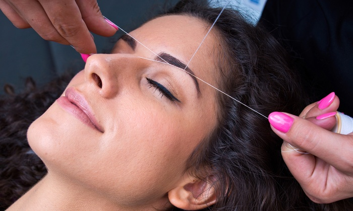 Divine Threading - Divine Threading: One or Three Eyebrow Threadings or a Full-Face Threading at Divine Threading (Up to 58% Off)
