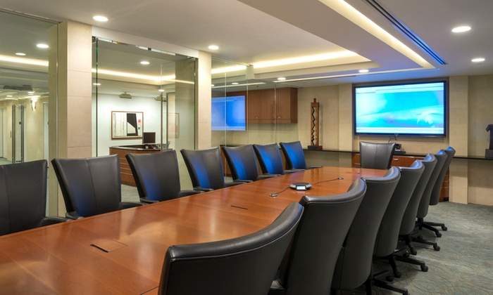 Rockefeller Group Business Centers - Midtown Center: Conference Room Rental for Eight or Videoconference Room Rental for 14 at Rockefeller Group Business Centers (Half Off)