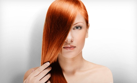 Keratin-Smoothing Treatment with Optional Blowout at Bellatair Salon (72% Off)