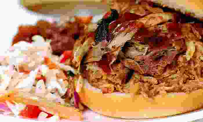 Winslow's BBQ - Winslow's BBQ: Pulled Pork Sandwiches and Sides for Two or Four at Winslow's BBQ (Half Off)