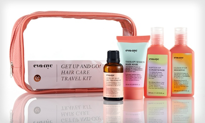 Eva NYC Haircare Travel Kit: $18.99 for an Eva NYC Get Up and Go! Haircare Kit with Argan Oil and Keravis Protein ($38 List Price). Free Shipping.
