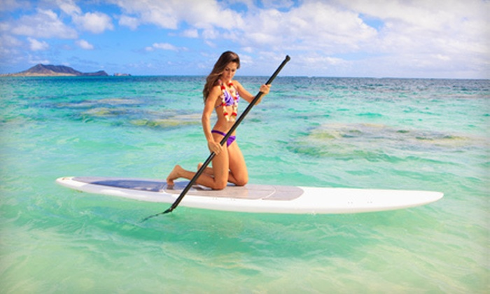 Lazee Lizard - Multiple Locations: Two-Hour Paddleboard or Kayak Rental for One or Two at Lazee Lizard (Up to 53% Off).