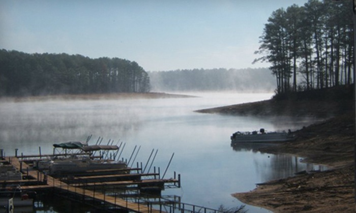 Marinas At Thurmond North - Lincolnton: Two-Night Campsite or Cabin Stay, or Half- or Full-Day Pontoon Rental from Marinas At Thurmond North (Up to 59% Off)