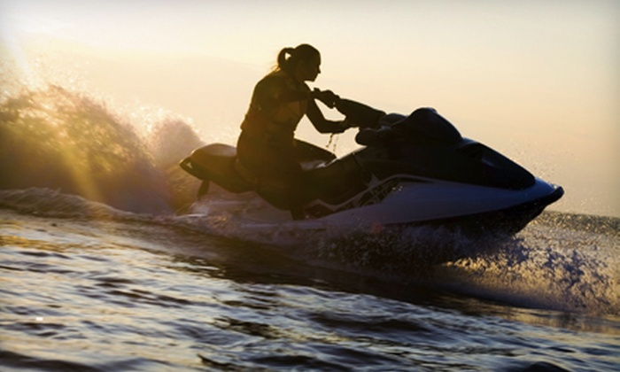 American Watersports - Pompano Beach: 30- or 60-Minute Jet-Ski Rental with Access to Umbrella and Two Chairs from American Watersports Inc (Up to 57% Off)